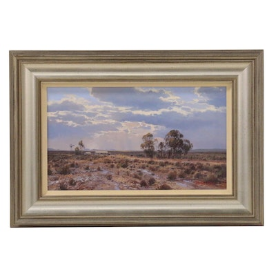 Francois Koch Oil Painting of South African Karoo Landscape