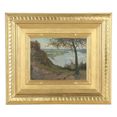 Henk Dekker Coastal Landscape Oil Painting, Early to Mid 20th Century
