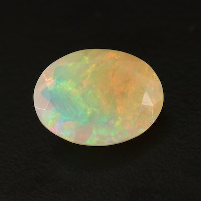 Loose 4.03 CT Oval Faceted Opal