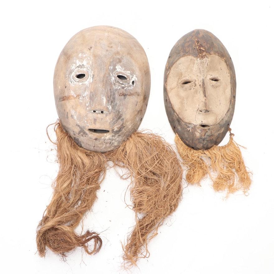 Lega Hand-Carved Wood Masks, Democratic Republic of the Congo