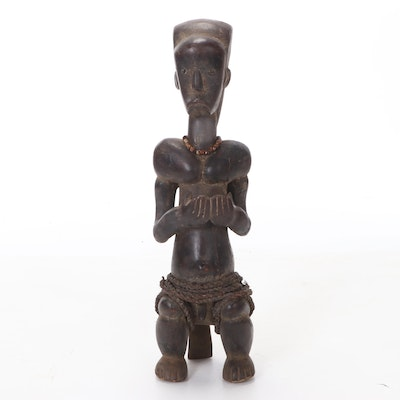 Fang Guardian Figure Hand-Carved Wood, Central Africa