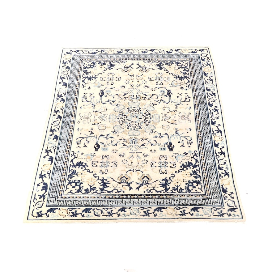 7'1 x 9'10 Hand-Knotted Chinese Wool Rug