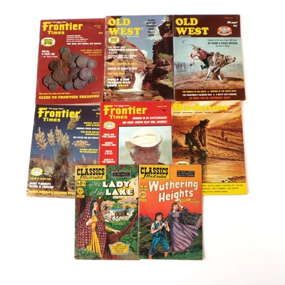 """Classics Illustrated,"" ""Old West,"" ""Frontier Times,"" and ""Badman"" Comic Books"