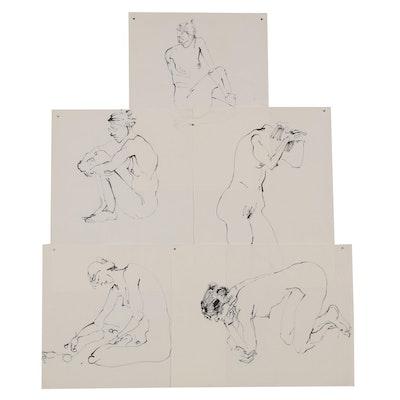John Tuska Figural Ink Studies