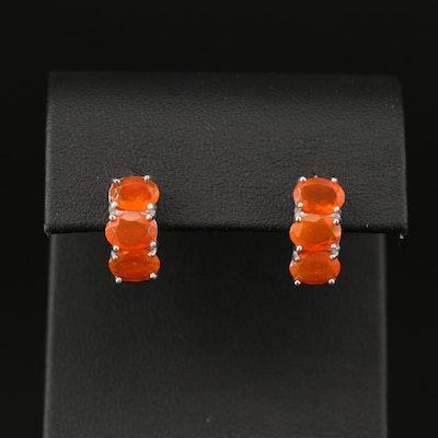 Sterling Silver Opal Earrings