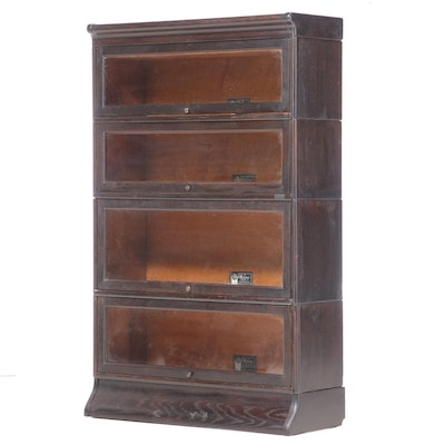The Viking Oak Barrister's Sectional Bookcase, Early 20th Century