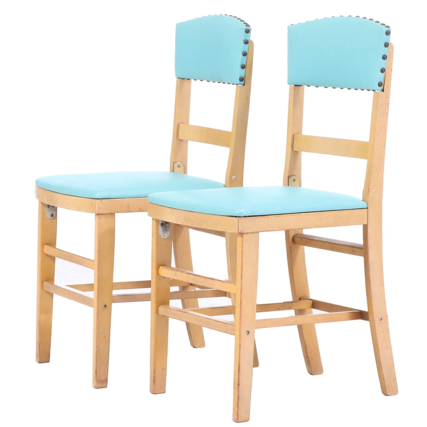 Pair of Ferguson Brothers Mfg. Co. Folding Side Chairs, Mid 20th Century