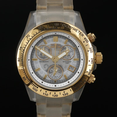 Invicta Anatomic Ocean Glass Quartz Wristwatch