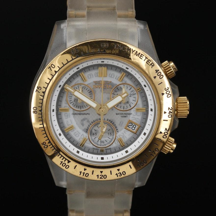 Invicta Anatomic Ocean Glass Quartz Wristwatch