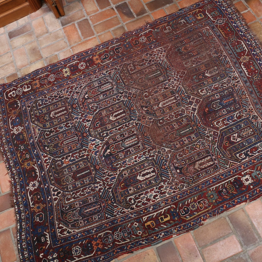 4'5 x 6'7 Hand-Knotted Persian Caucasian Rug