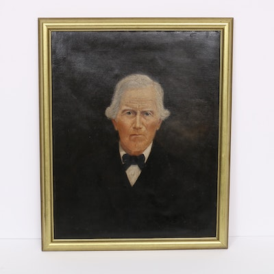 Portrait Oil Painting, Possibly of Johnathan W. Rice, 19th Century