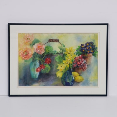 Linnae Wilson Floral Still Life Watercolor Painting