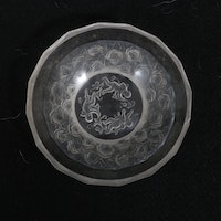 Lalique Crystal Cherubs and Roses Bowl