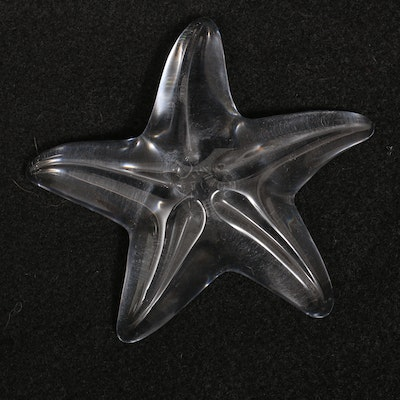 Baccarat Crystal Starfish Paperweight