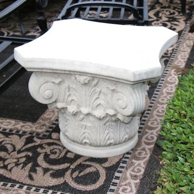 Frontgate Corinthian Style Column Capital Patio Table