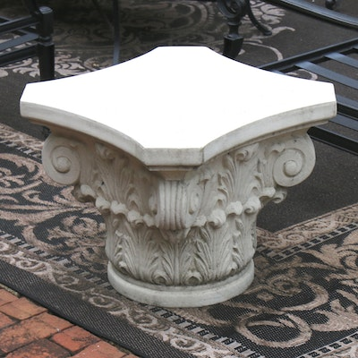 Frontgate Corinthian Style Column Capital Patio Table