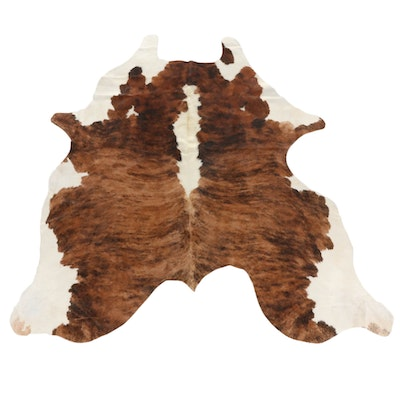 6'4 x 6'6 Natural Cowhide Area Rug