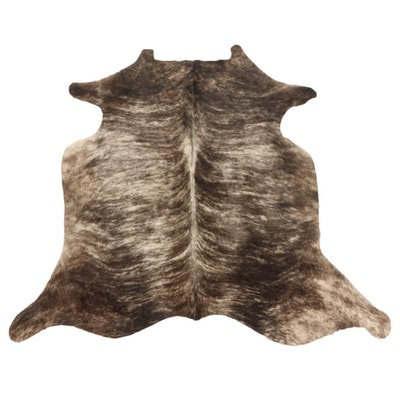 6'0 x 6'4 Brown Brindle Natural Cowhide Area Rug