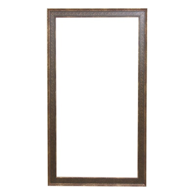 Rococo Style Wooden Wall Mirror with Painted Accents, Contemporary