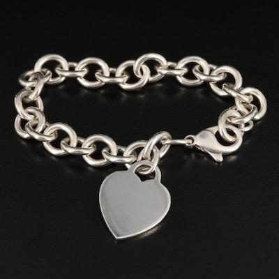 Tiffany & Co. Sterling Heart Tag Bracelet