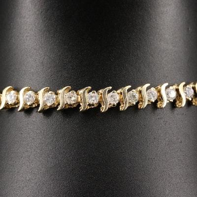 14K 1.96 CTW Diamond S-Link Bracelet