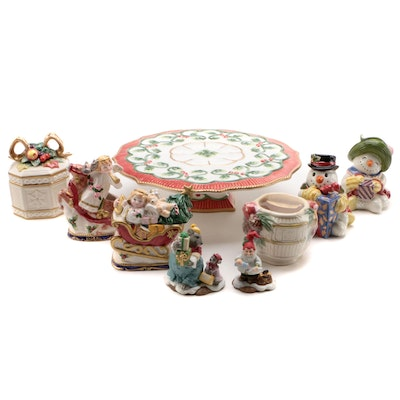 Fitz and Floyd Hand Crafted Ceramic Christmas Table Accessories