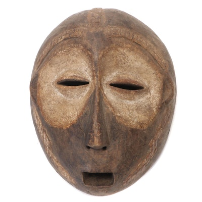 Lega Style Hand-Carved Wood Mask, Democratic Republic of the Congo