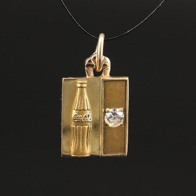 18K Coca Cola Charm with Diamond Accent
