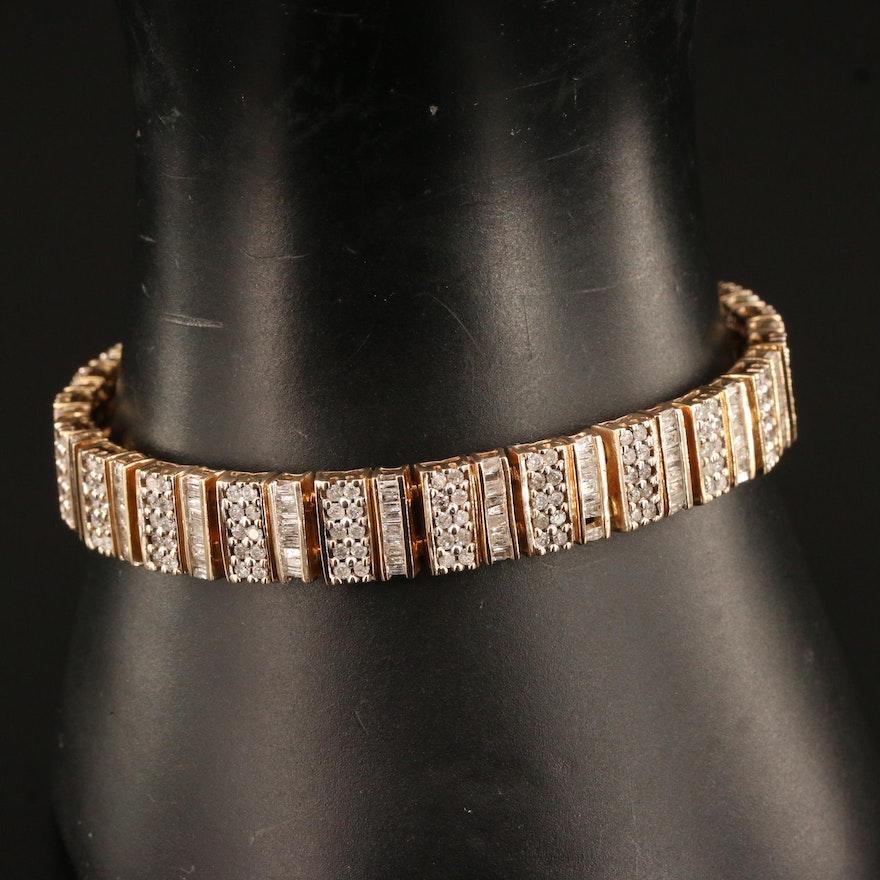 10K 5.63 CTW Diamond Bracelet