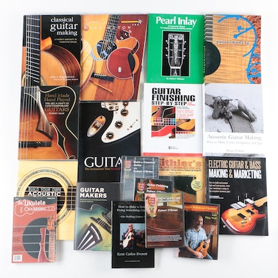 "Guitar Books Including ""Build Your Own Acoustic Guitar"" by Jonathan Kinkead"