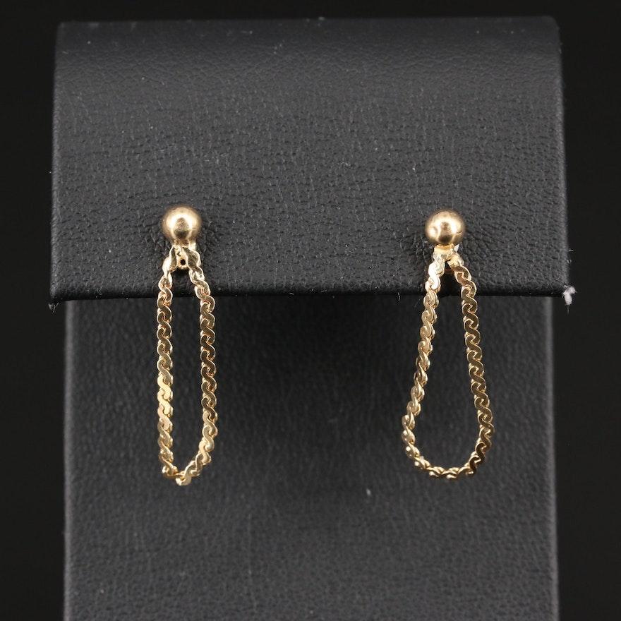 14K Serpentine Dangle Earrings