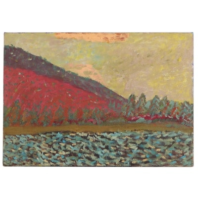 Jerry Mironov Abstract Landscape Oil Painting