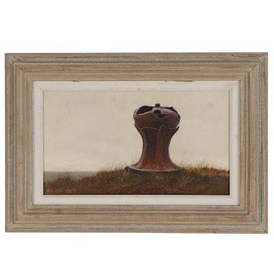 Hale Johnson American Realist Landscape Oil Painting