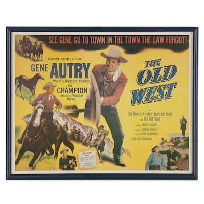 "Offset Lithograph Reproduction Movie Poster for ""The Old West"""