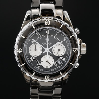 Croton Stainless Steel Chronograph with Date Quartz Wristwatch