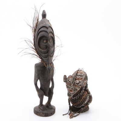 Ancestor Figure and Woven Basket Figure, Middle Sepik River Region