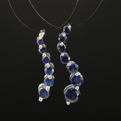 10K Sapphire and Diamond Pendants