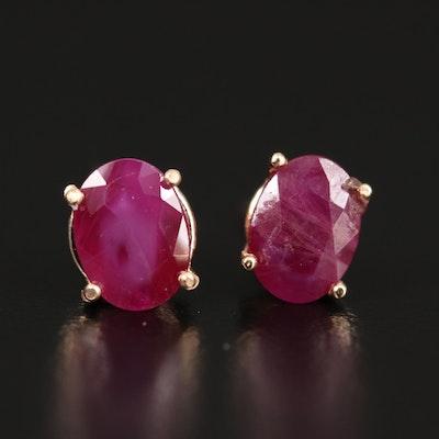 14K 2.00 CTW Ruby Stud Earrings
