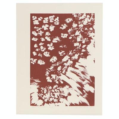 "D. Elizabeth Price Abstract Serigraph ""Falls in Gardenia Land"", 1977"