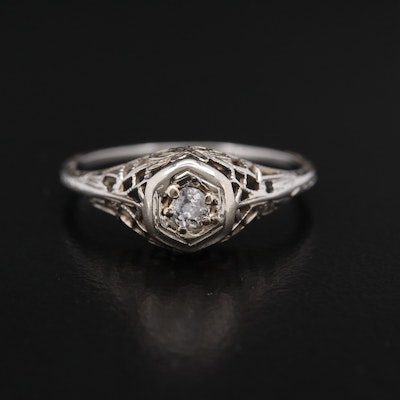 Art Deco 18K Diamond Ring