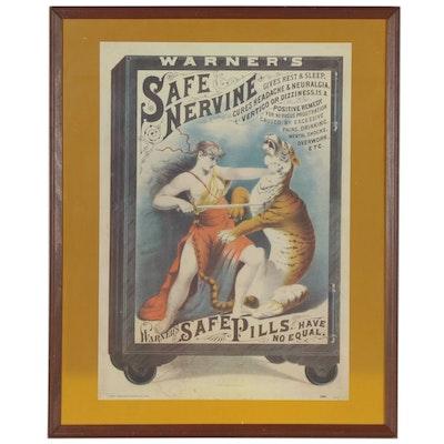 Reproduction Advertising Poster for Warner's Safe Nervine
