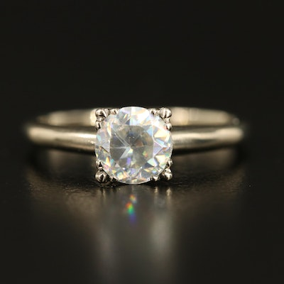 14K Rutile Solitaire Ring