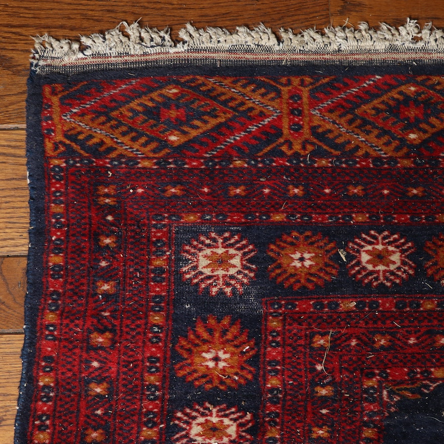 4'1 x 6'9 Hand-Knotted Persian Wool Rug, Mid-20th Century