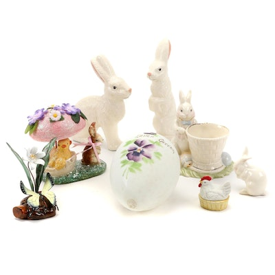Lenox, Goebel and Other Ceramic and Glass Easter Themed Figurines
