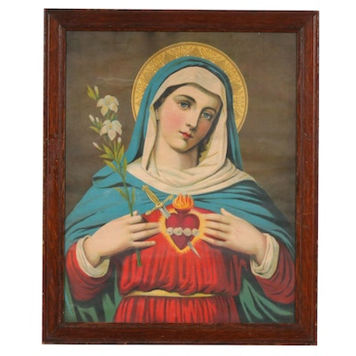 Chromolithograph of Sacred Heart of Mary