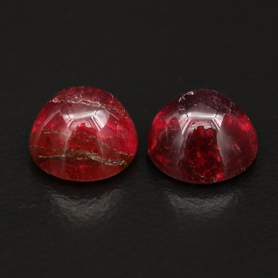 Loose 7.89 CTW Bullet Cabochon Rubellite Tourmaline