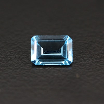 Loose 1.05 CT Cut Corner Rectangular Faceted Topaz