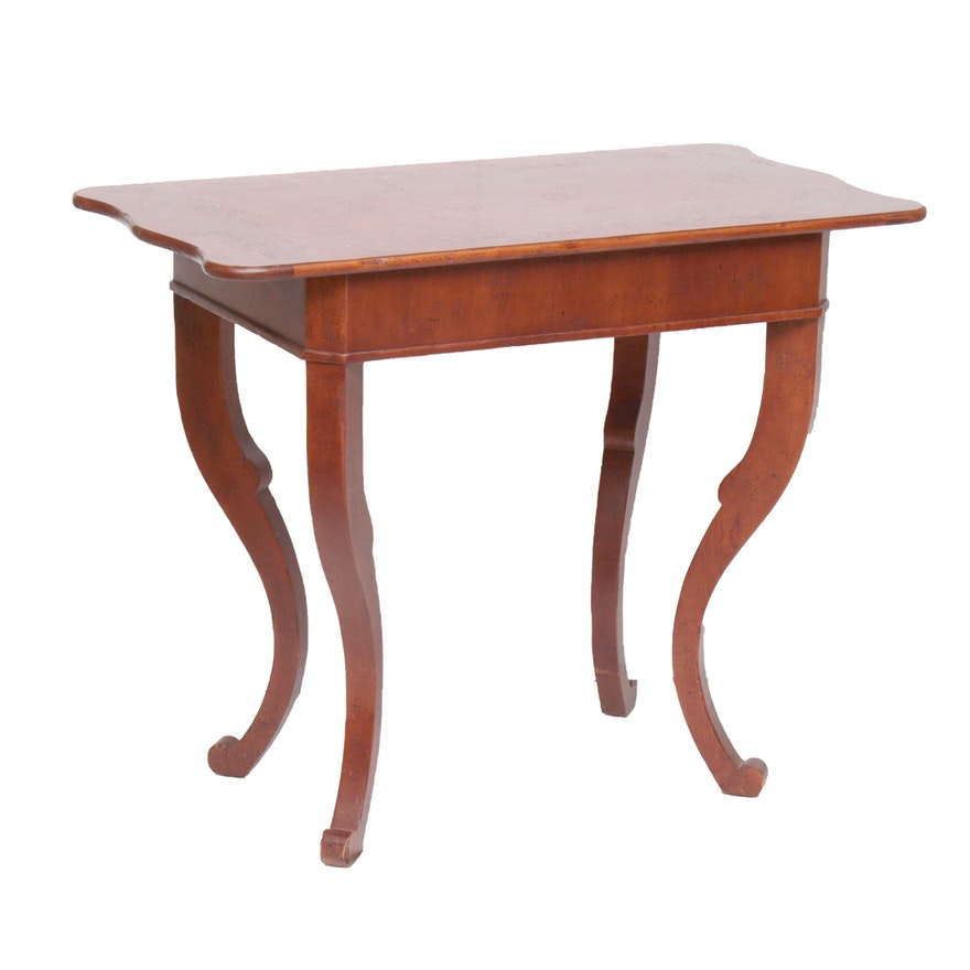 Baker Milling Road Walnut and Banded Inlay Side Table