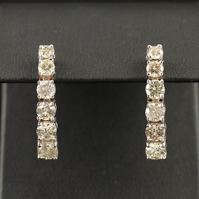 14K Graduated 3.47 CTW Diamond Drop Earrings