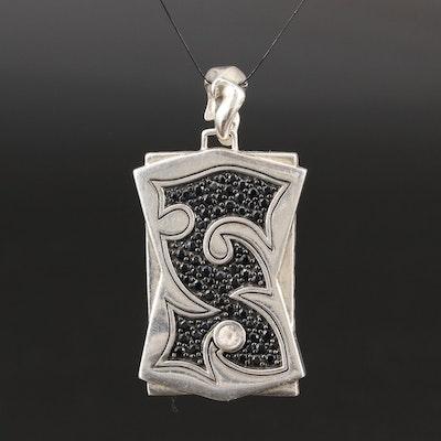 John Hardy Sterling Silver Sapphire Enhancer Pendant